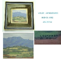 Leonardo Perez Obis oleo oil panel Aragón Spain miniature