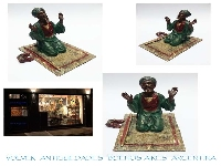 Franz Bergman NAMGREB excellent Vienna bronze arab praying