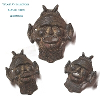 Rare old Devil Satan plaque mask iron fountain head 25 cm x 20 cm