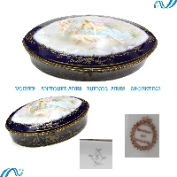 Stunning antique Sevres jewel box signed 14 ´´ FREE SHIPPING WORLDWIDE !
