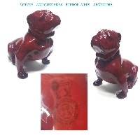 Rare old ROYAL DOULTON flambe seated proud bulldog figure FREE SHIPPING