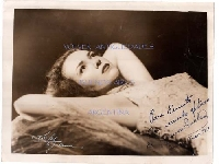 Marion Inclan original hand signed and dedicated bw photo 8´´ x 10´´ 1948