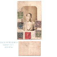 Interesting old multi franking Japan France China ? USA photo postcard