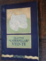 Old tractor caterpillar VEINTE catalog 1927