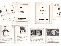ASKANIA WERKE 2 old catalogs balances torsion magnetiques campagne