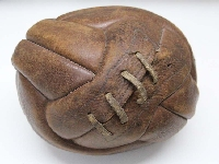Antique Argentine soccer 12 panels leather ball # 5
