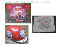 Argentinos Juniors vintage Soccer Shirt helmet bike pillow case life member club RARE