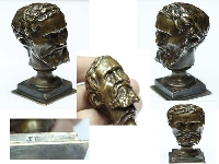 Rare old philosopher ?French bronze F Barbedienne  SOLD / VENDIDO