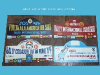 Vintage interesting lot of 4 RALLY RALLYE south america Codasur sign 1978 / 80