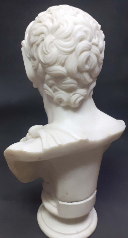 Arte / Art   Stunning antique Carrara ? marble Satyr Faun Myth figure EXCELLENT !