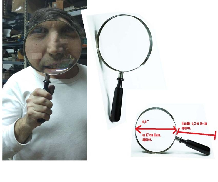 Coleccionables / Collectibles   Rarest antique HUUUUGE magnifying glass entomologist / gem 13´ VENDIDO / SOLD