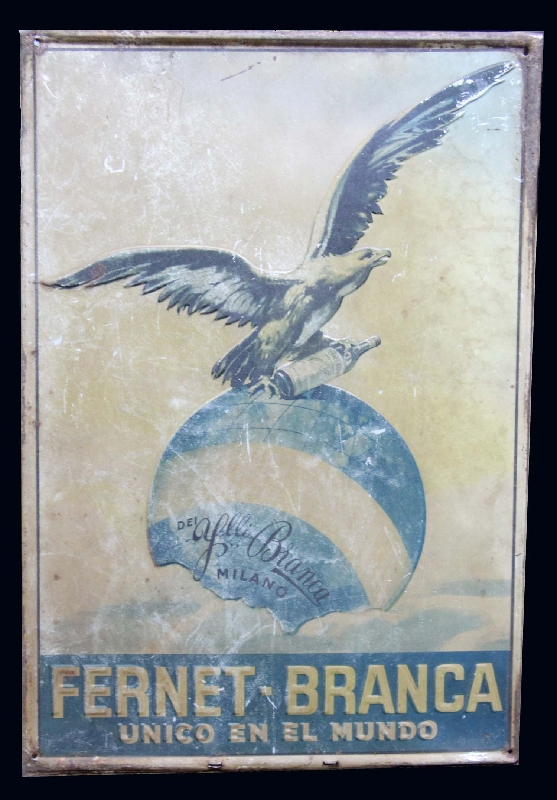 Coleccionables / Collectibles   Rare old FERNET BRANCA sign 20´´ x 14´´ FREE SHIPPING