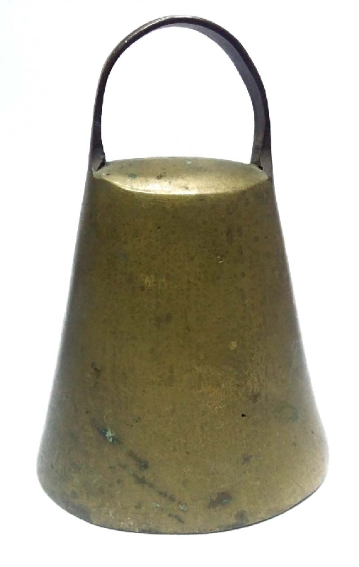 Coleccionables / Collectibles   Rare old brass bronze cowbell # 4 PARACHUTE ???