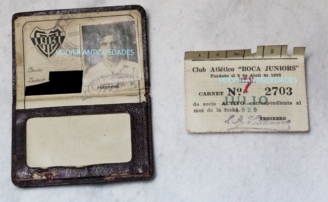Coleccionables / Collectibles   Ciudad deportiva Boca Juniors RARE papers lot old membership card