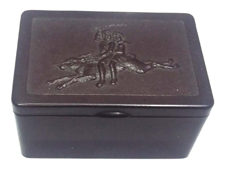 Coleccionables / Collectibles   Lovely rare old small bakelite box children´s riding on rabbit