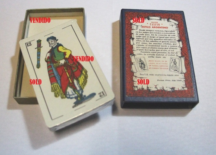 Coleccionables / Collectibles   Rare Naipes Casino Estilo Argentino Gaucho unplayed playing cards in box