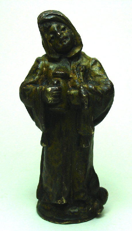Bronce / Bronze / esculturas en general   Funny small Vienna Bronze little monk with a tankard ? miniature Franciscan