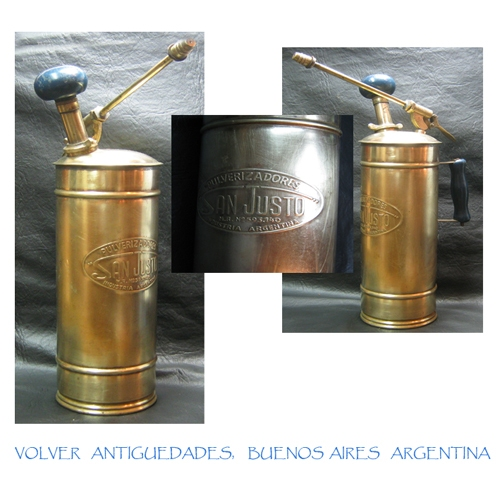 Curiosidades / Curiosities / odd   Old Argentine atomizer insects brass Bug / Garden Sprayer