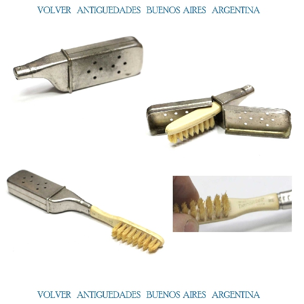 Curiosidades / Curiosities / odd   Rare old DECOATER travel tooth brush dentist dental dentistry