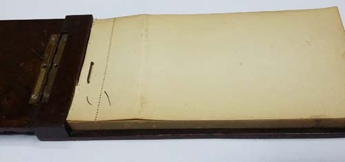 Curiosidades / Curiosities / odd   Rare old doctor prescriptions notebook wooden covers metal apply skull serpent