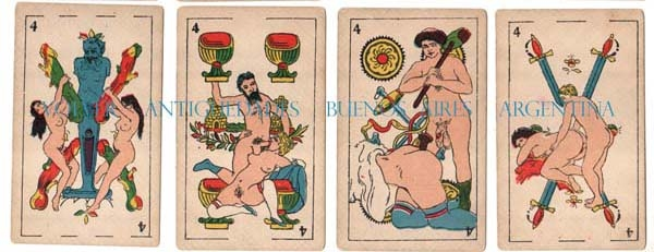 Curiosidades / Curiosities / odd   RAREST old spanish playing cards xxx erotic porn COMPLETE !! VENDIDO / SOLD