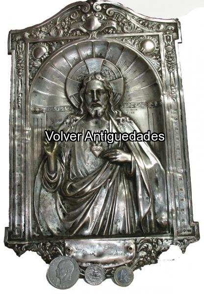 Antiguedades / Antiques   Sagrado Corazon Jesus estampado
