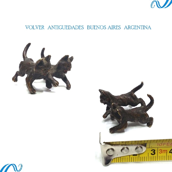 Antiguedades / Antiques   Lovely antique Vienna bronze cats little cat FREE SHIPPING WORLDWIDE !