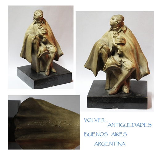 Antiguedades / Antiques   Very rare old Guido Cacciapuoti pottery ceramica lady with mask carnival figure