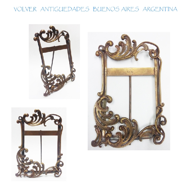 Antiguedades / Antiques   Nice antique brass french Art Nouveau picture frame