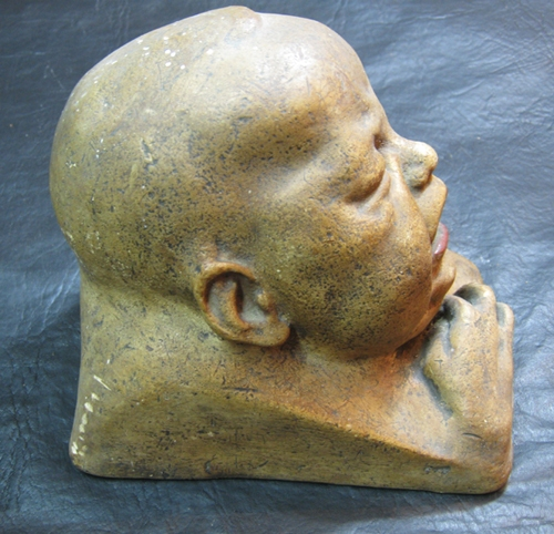 Antiguedades / Antiques   Old plaster hollow baby head crying VERY REAL SEE IT !!