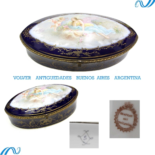 Antiguedades / Antiques   Stunning antique Sevres jewel box signed 14 ´´ VENDIDO / SOLD