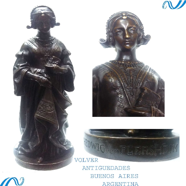 Antiguedades / Antiques   Hedwig Von Flersheim antique & rare bronze sculpture VENDIDO / SOLD