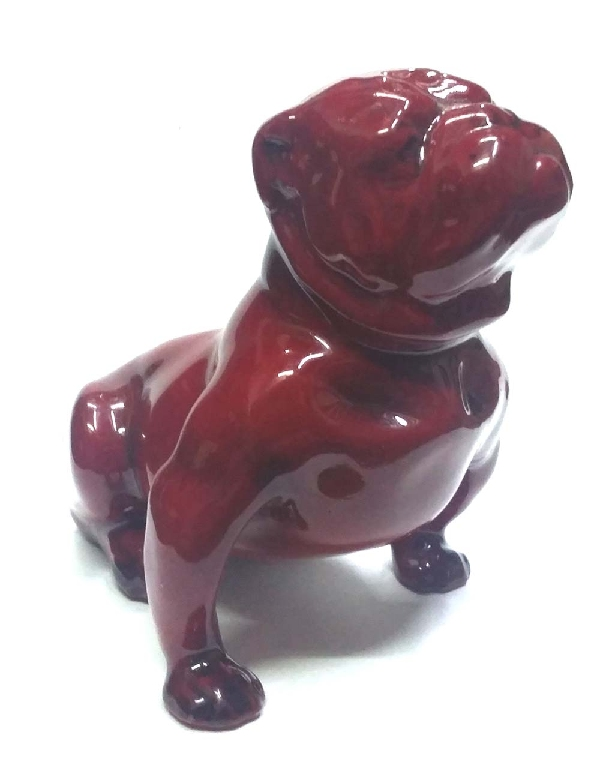 Antiguedades / Antiques   Rare old ROYAL DOULTON flambe seated proud bulldog figure FREE SHIPPING