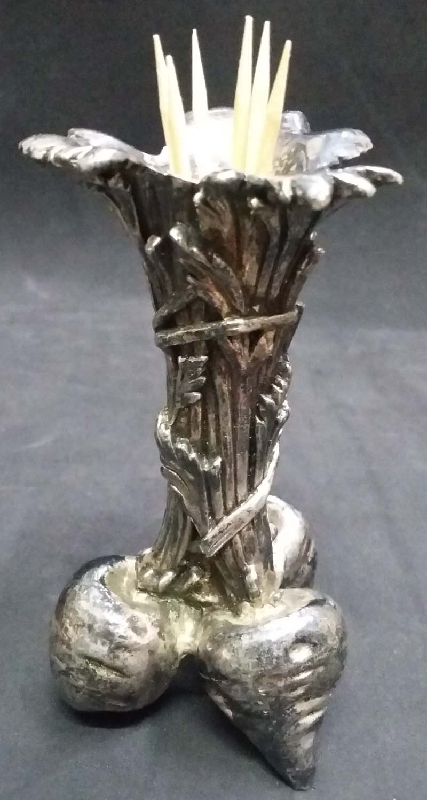 Antiguedades / Antiques   Rare antique Christofle radish turnip bud silver plated toothpick holder VENDIDO / SOLD