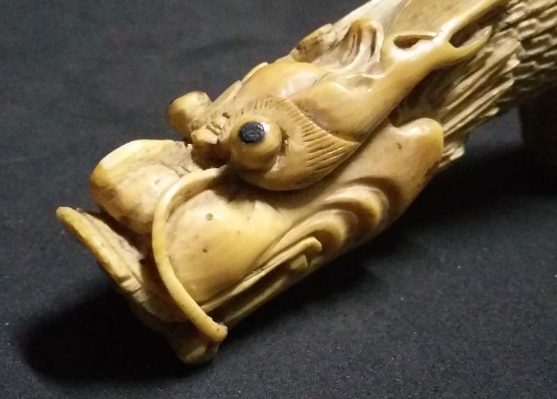 Antiguedades / Antiques   Stunning chinese oriental antique dragon head carved cane walking stick VENDIDO / SOLD