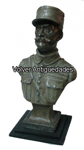 Antiguedades / Antiques   Mariscal Foch figura en peti bronce