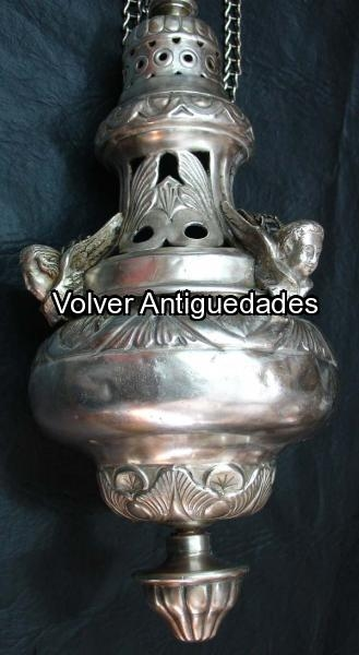 Antiguedades / Antiques   Incensario Sahumador Plateado con angeles VENDIDO / SOLD
