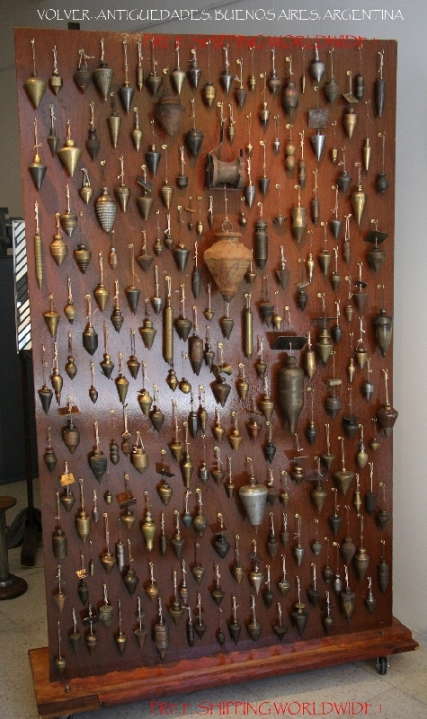 Antiguedades / Antiques   The biggest plumb bobs collection 300 old brass bronze iron aluminium copper