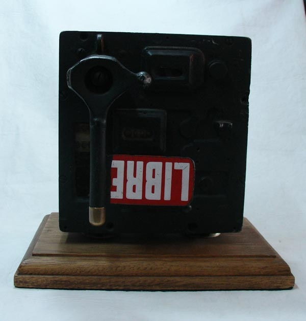 Antiguedades / Antiques   Rare old Argentine Taxi Cab Fare Meter kitch mirror glass bevel manual working