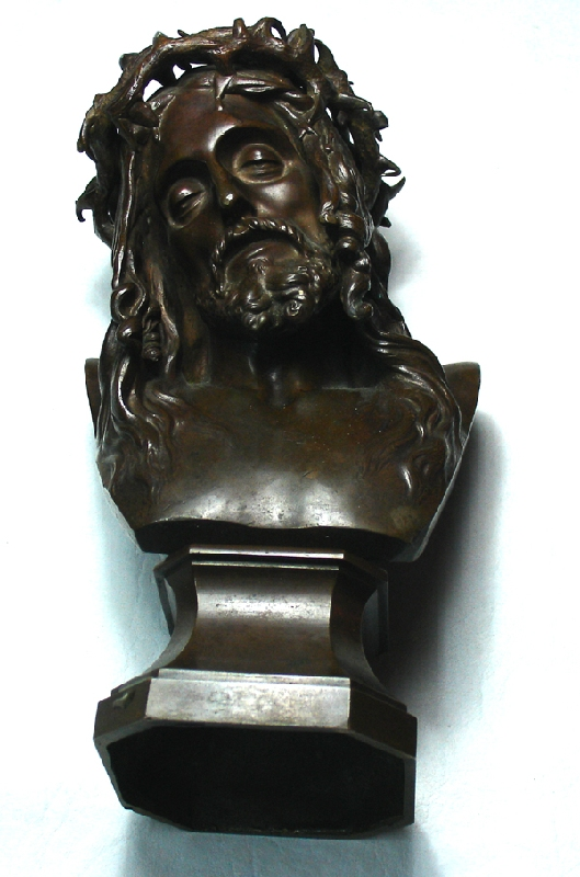 Antiguedades / Antiques   Antique French Christ Crown of Thorns Passion Thiebaut Frères foundry bronze