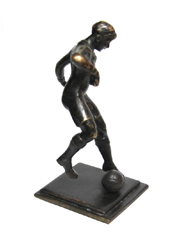 Antiguedades / Antiques   Old M. Lefevre French soccer football player bronze 5 ' or 13 cm