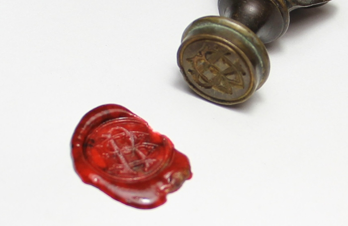 Antiguedades / Antiques   Very interesting antique French Napoleon Bonaparte bronze wax seal BR 6,5 cm app