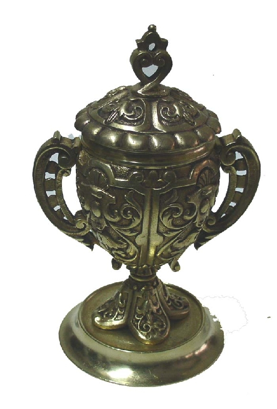 Antiguedades / Antiques   Very interesting antique bronze inkwell ca 1880