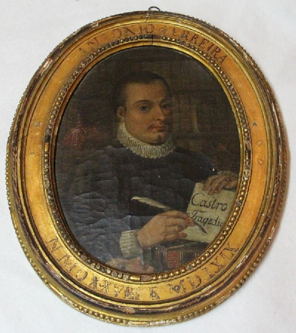 Antiguedades / Antiques   Antonio Ferreira Castro Tragedia Lisboa Portugal interesting oil portrait 1800