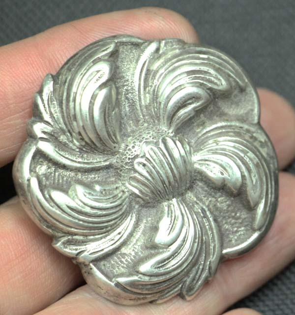Fashion / Moda accesorios etc   Interesting old silver 925 Peru Welson brooch rose flower shape