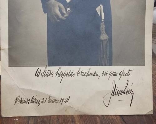 Peron y Evita   President Juan Domingo Peron hand signed & dedicated real photo 1954 1ft x 7´´ VENDIDO / SOLD