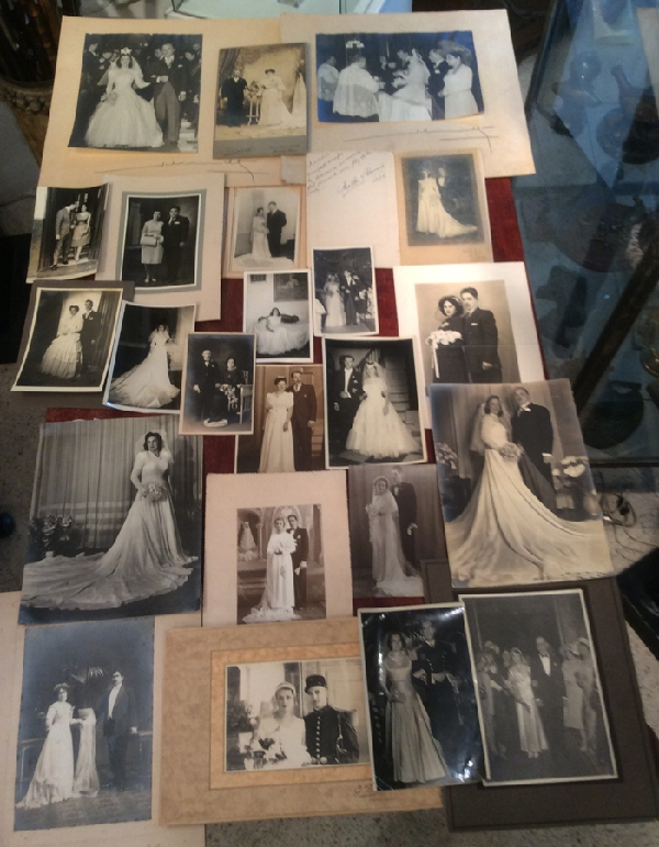 Fotos / Photos   Collection of more than 200 Bride Groom Marriage wedding photos 1890 to 1950
