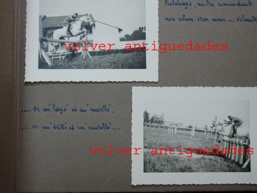 Fotos / Photos   Very interesting and old 2 italian photos albums horse jumps photo horses Italy