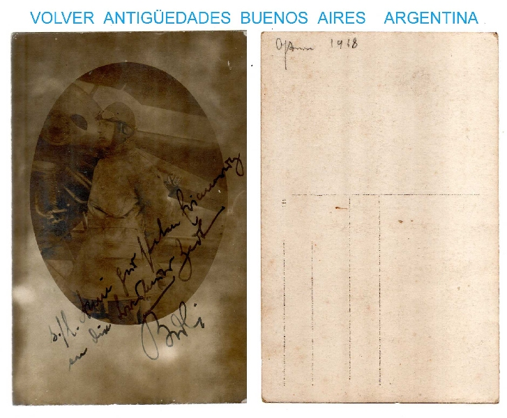 Fotos / Photos   Interesting old aviator pioneer hand signed dedicated photo AXIAL helix