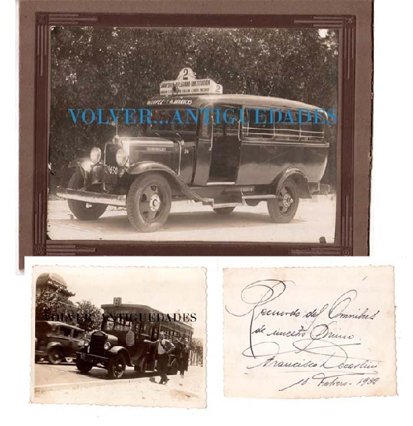 Fotos / Photos   Omnibus Colectivo Bus Argentine Uruguay 2 interesting old photos